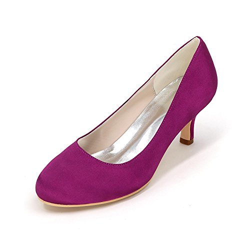 L@YC Frauen - High - Heels Schuhe Seide Große Yards Hochzeit Schuhe Party Hochzeitskleid Multi - Color 4852 Purple