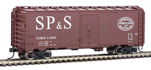 (40' AAR 1944 Boxcar - Ready to Run -- Spokane, Portland & Seattle #11000 (Boxcar Red; Straight SP&S, Football Logo))