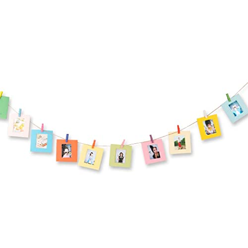 DSstyles 10 Pieces Creative Wall Decor Hanging Film Frame, Paper Photo Frame Set for Fujifilm Instax Mini 8 7S 90 25 50S Films