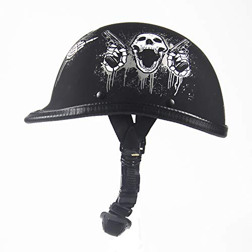 - Retro Harley Helmet Chopper Motorcycle Helmet Bike Cruiser Chopper Off-Road Moped Scooter ATV Half Face Skull Cap Old School Helmets,1,M