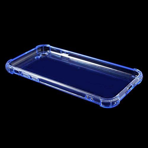 Clear Drop-proof TPU Soft Tasche Hüllen Schutzhülle Case für iPhone 7 4.7 Inch - Blau