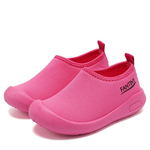 CIOR Kids Slip-on Casual Mesh Sneakers Aqua Water Breathable Shoes For Running Pool Beach (Toddler/Little Kid) SC1600 Red 24 3