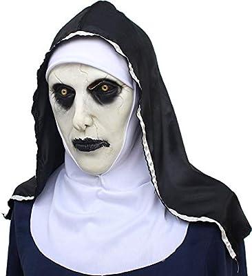 7°MR Mascara Purga Disfraz Monja Máscara Miedo Rostro Femenino ...