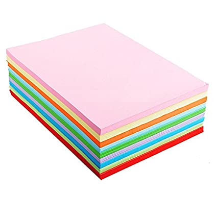 Amazon A4 Assorted Colored Origami Paper 10 Color 100 Sheets