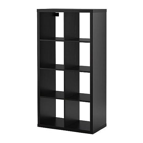 Ikea Librerie Componibili Expedit.Ikea Kallax Scaffale Marrone Nero 77x147 Cm Amazon It Casa E Cucina