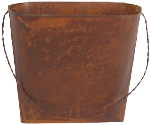 Craft Outlet 4.5-Inch Rustic Wall Bucket Container, Mini, Set of 4