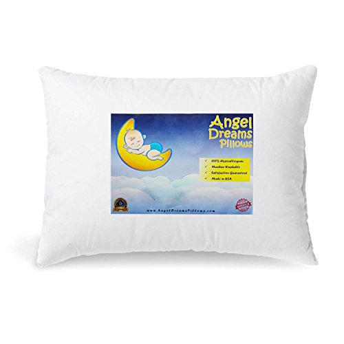 Toddler Pillow 13x18-Inch Hypoallergenic (Angels Pillow)