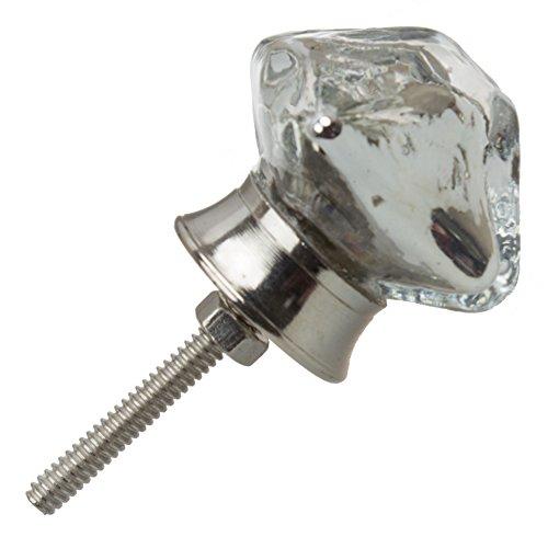 GlideRite Hardware 231010-M-25 Pyramid Mercury Glass Cabinet Knobs, 25 Pack, 1.25'', Silver Vintage Mercury Glass by GlideRite Hardware (Image #1)