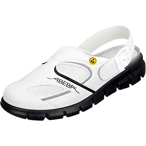 Abeba 37345-48 Dynamic Chaussures sabot ESD Taille 48 Blanc/Noir