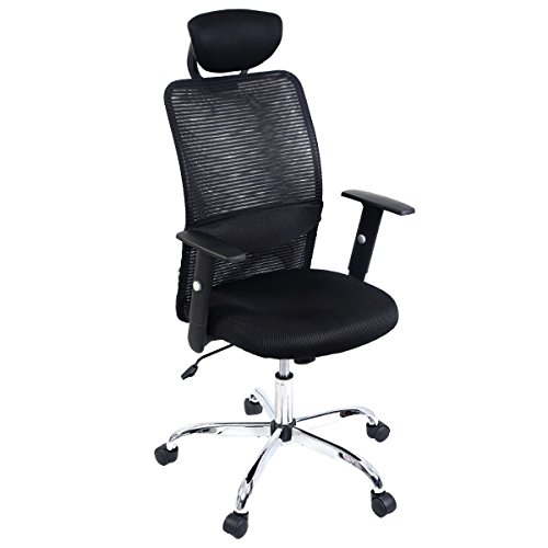 Giantex Modern Ergonomic Mesh High Back Executive Computer Desk Task Office  Chair (Black)
