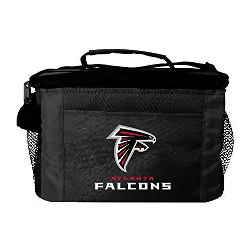 NFL Atlanta Falcons Team Logo 6 Can Cooler Bag or Lunch Box - Black