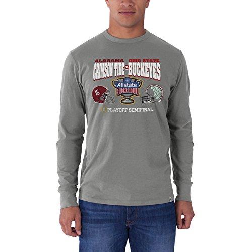 Alabama Crimson Tide Ohio State Buckeyes 2015 Sugar Bowl Gray LS T-Shirt (XL) (Ohio State Buckeyes Vs Alabama Crimson Tide)