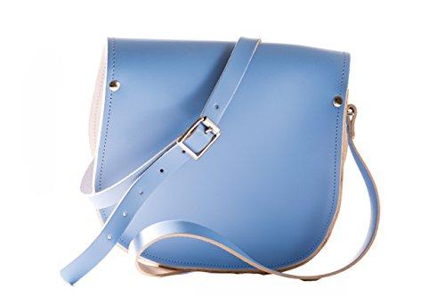 Del Silla Ajustable Cierre Crossbody Azul Bolso Correa Hebilla Una Y De Con Cuero Bellflower Real SX61wnFq0