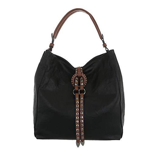 Femme Sac L'épaule Pour À Porter design Noir Ital qfAv1
