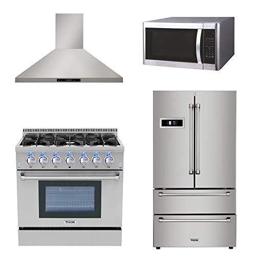 Thor Kitchen 4 package- 36inch Pro-style Gas Range, 36inch F