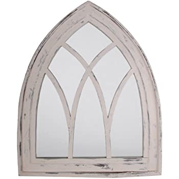 Esschert design usa wd10 mirror gothic white for Long window mirror