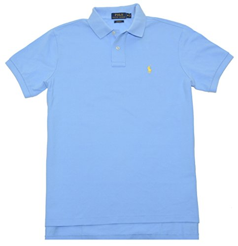 Polo Ralph Lauren Mens Classic-Fit Mesh Short sleeve Polo (ChatBlue, S) - Mesh Short Sleeve Polo Shirt