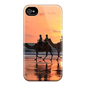 ConnieJCole Snap On Hard Case Cover Sunset Camel Rides Broome Western Australia Protector For Iphone 4/4s