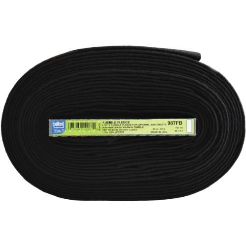 "Pellon Fusible Fleece 45"" x15yd Black"