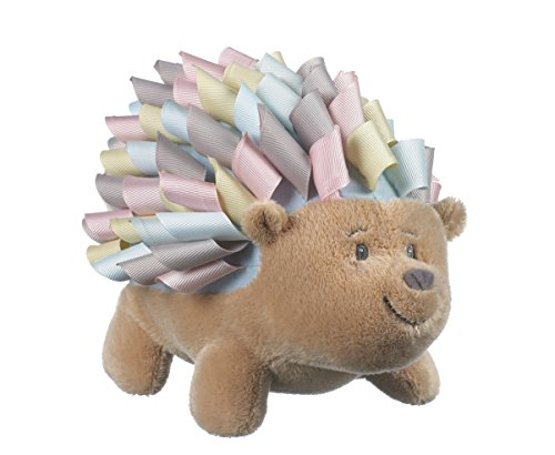 Ganz Baby Roly Poly Ribbon Hedgehog 7 inch - Baby Stuffed Animal, Multicolor, 7 x (Pastel Animals)