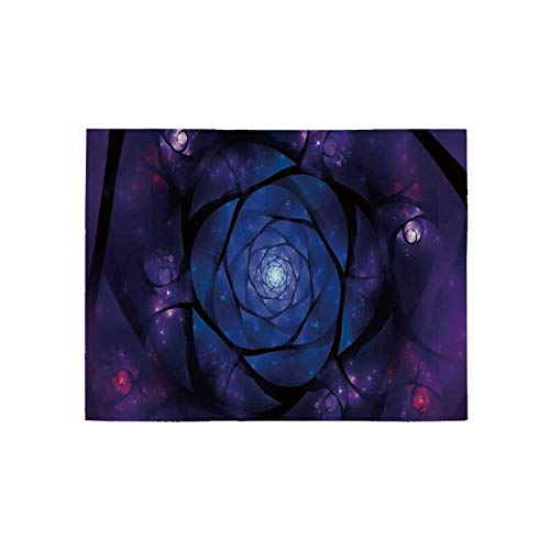 - Mandala Utility Area Rug,Mystical Psychedelic Asian Universe Symbol in Space Sacred Motif Art Print Decorative for Home,63