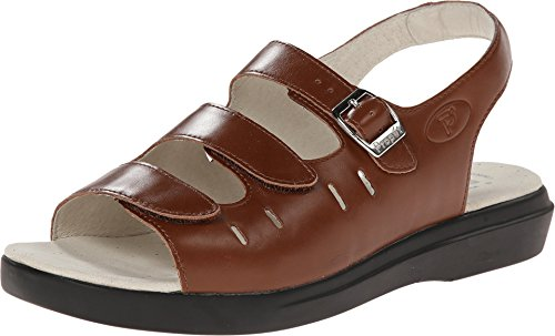 (Propet Women's Breeze Walker Sandal,Teak Brown,8 M (US Women's 8 B))
