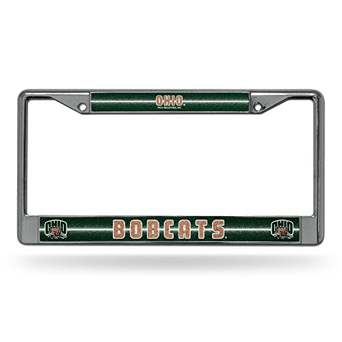 - Rico NCAA Ohio Bobcats Bling Chrome License Plate Frame with Glitter Accent