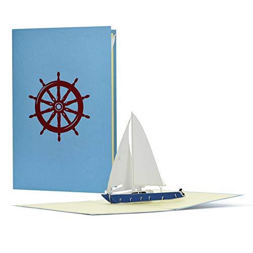 Tarjeta Pop Up 3D Con Barco Vela Cheque Regalo Tarjetas De Viaje Ideales Como Regalos Para Viajeros Tarjetas Regalo Para Cumpleanos Vacaciones O Agradecimiento B16