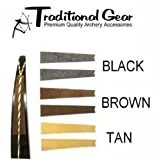 Traditional Archery - Recurve Bow Bowstring Groove Silencers - (Available in 3 Colors) (BLACK)