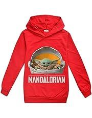 Joh Baby Yoda The Mandalorian Yoda Baby Boy and Girl Hooded Sweater Kids Clothing