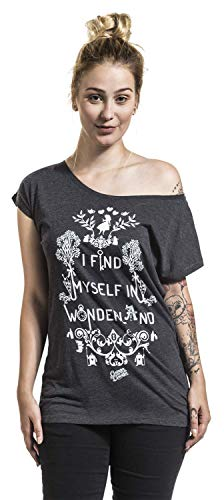 Alice Donna Maglia Grigio Sport In I Myself Find Wonderland BBrqY1