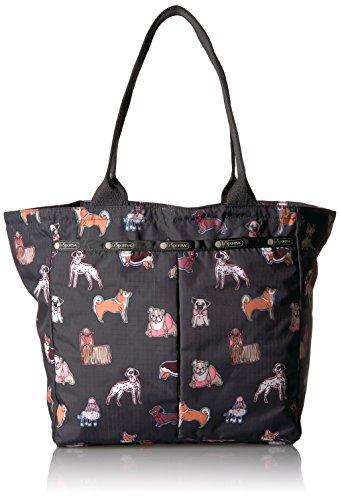 Handbag Animal Print Tote (LeSportsac Classic Everygirl Tote Handbag, Take a Bow Wow)