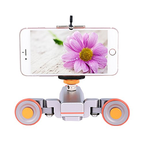 YELANGU Electric Autodolly Track Slider with Remote Rechargeable Three Speed for Camera Weight Up to 3kgs and IPhone