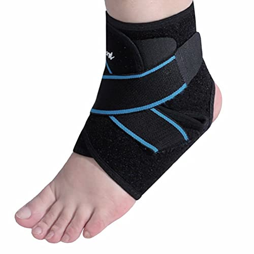 Ankle Brace, Gelocent Ankle Support with Adjustable Wrap, Breathable Compression Brace for Arthritis, Pain Relief, Sprains, Sports Injuries and Recovery, One Size Fits Most for Men & Women