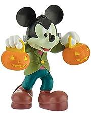 Bullyland 15291 – Spelfigur, Walt Disney Musse Halloween, ca 7 cm stor, kärleksfullt handmålad figur, PVC-fri, bra present till pojkar och flickor att leka med fantasifullt