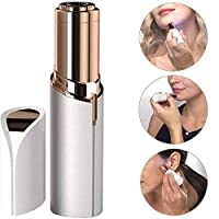 Clothsfab Epilator Wax Finishing Touch Hair Remover Razor Women Body Face Electric facial hair removal tool Hair Removal Painless Lipstick Shaving Tool Lipstick Shape Painless Electronic Facial Hair Remover Shaver For Women (Battery Included) hair remover machine for woman