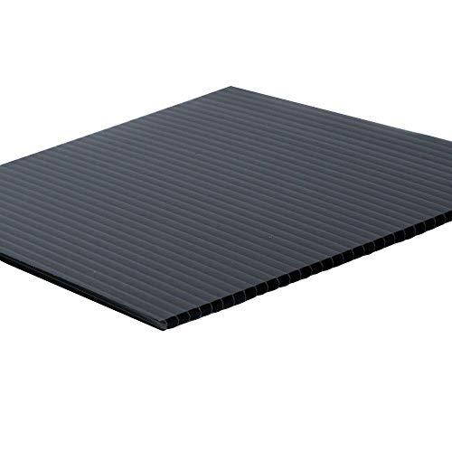 """24"""" x 36"""" x 0.157"""" Black Twin Wall Plastic Sheet (15-Pack)"""