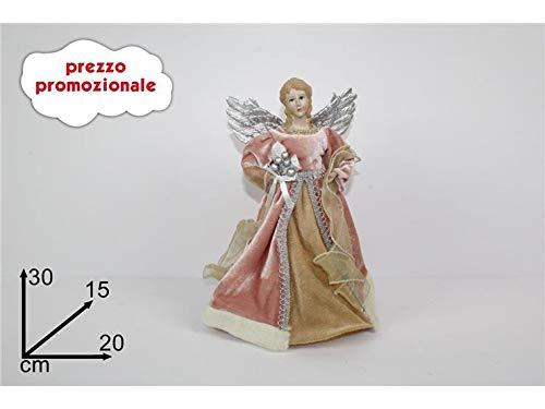 DUEESSE ANGELO PUNTALE CM 30 COLORE ROSA ANTICO PER ALBERO DI NATALE