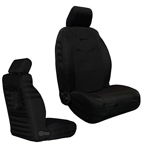 UPC 708624736427, Bartact BTJKSC2013FPBB - 2013-2018 Jeep Wrangler JK - Black/Black Mil-Spec with MOLLE System Front (Pair) Seat Covers