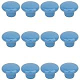 Choubao 12PCS Blue Drawer Cupboard Cabinet Knobs Wardrobe Home Kitchen Hardware Knob Colorful Round Ceramic Pull Handle - S