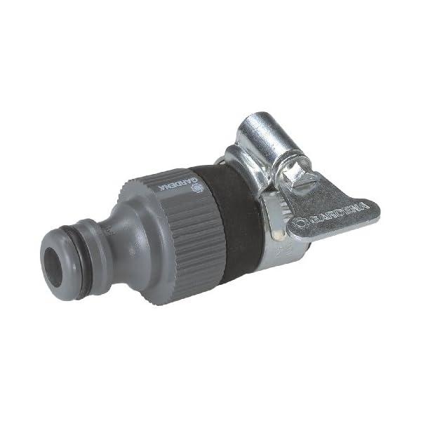 41 06CQX9NL Gardena Wasserdieb: Universal Wasserhahn-Adapter zum Anschluss des Gardena Gartenschlauchs an einen Wasserhahn ohne…