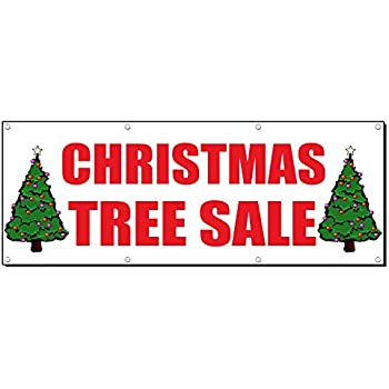 Amazon.com : Christmas Tree Sale Signs Banners 3' X 8 ...