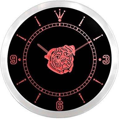 Reloj de pulsera de acrílico retro de estilo contemporáneo en el cuadro de // / reloj de pared redondo de aluminio de 10, color rojo: Amazon.es: Relojes