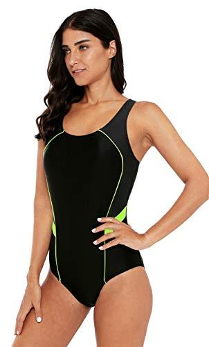 ATTRACO Womens Athletic One-Piece Swimsuits Sports Racerback One Piece Swimwear