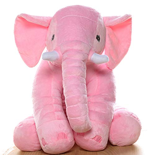 MorisMos Stuffed Elephant Plush Toy Pink 24 inch/60cm