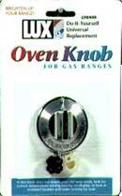 Lux #CPR408 Chrome Gas Oven Knob