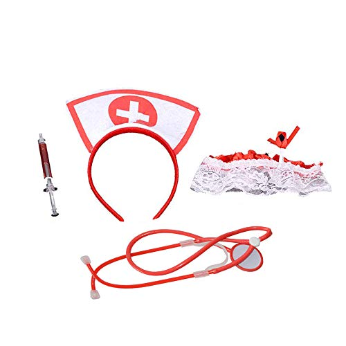 BinaryABC Halloween Costume Accessory,Nurse Costume Set,Nurse Cosplay Costume Set