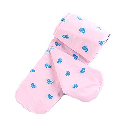 Floralby Kid Children Girls Cute Love Heart Warm Tights Stretchy Pantyhose Dance Tights