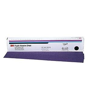"""3M 02707 Hookit Purple 2-3/4"""" x 16"""" P220 Grit Dust-Free Sheet"""