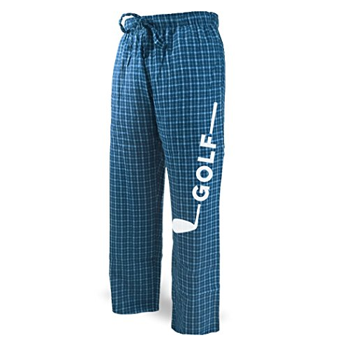Golf Club Lounge Pants   Golf Apparel by ChalkTalk SPORTS   Blue with White   Adult (Golf Lounge)